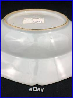 Authentic 17/18th C Kangxi Blue & White Glazed Porcelain Octagonal Plate 9