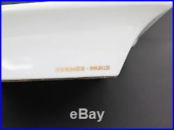 Authentic HERMES Carriage Riding with Gold, Blue and White Ashtray Plate #15696