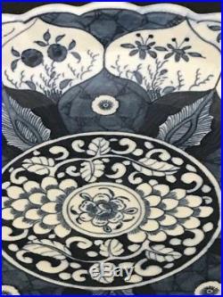Beautiful & Rare 18th Century Worcester Blue & White Plate Lotus Flowers Kangxi