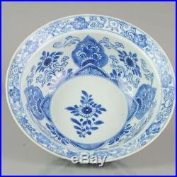 Big Antique Chinese Arabic Style Klapmuts Blue White China Dish Rare z