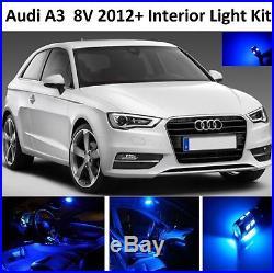 Blue Premium Audi A3 8v 2012+ 7 Piece Interior Upgrade Error Free Led Light Kit