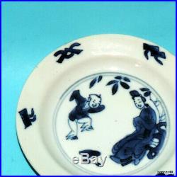 Blue White Chenghua Mark Plate Chinese Porcelain Ca1700- Kangxi Period