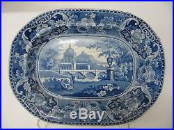 Blue & White Plate Platter Meat Large Serving Dish 17 Antique English Cassical
