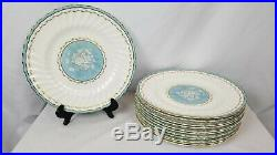 Blue and White Antique Set Of 12 Stunning Royal Doulton Dinner Plates 10 3/4