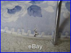 Blue and White Transferware Meat Plate Rileys Union Border Series