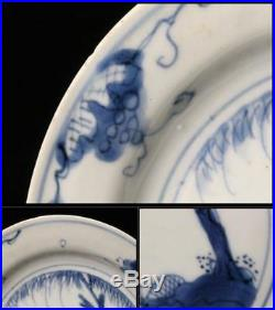 CCVP03 Kosometsuke chinese Blue & white porcelain plate Japanese Ming era cobalt