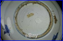CHINESE WANLI BLUE AND WHITE PEONY MING DISH WITH PROVENANCE 16th C