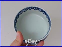C. 19th Antique Japanese Blue & White Gorota Narabini Shozui Porcelain Bowl