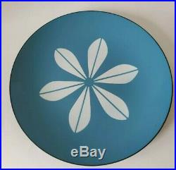 Cathrineholm MCM Enamelware 12 Platter Plate Lotus Design Blue & White #2