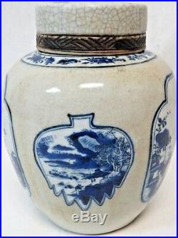 Certified Original 19th Century Chinese Qing Dynasty Blue White Porcelain Jar 9
