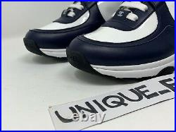 Chanel Women's Trainers Sneakers CC Runner Us 7.5 Uk 5 38 Navy Blue White Patent