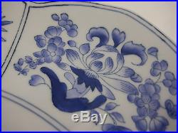 Chelsea House Blue & White Hand-Painted Large Porcelain Decorative Plate, 13 D
