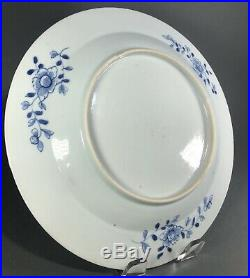 Chinese 18th C Qianlong Blue & White Porcelain Plate Charger 11 #2