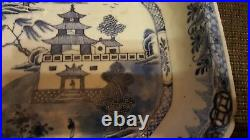Chinese 18th Century Blue and White Export Deep Serving Dish 32.5 x 25.5 cm