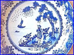 Chinese Export Nanking Type Blue and White Porcelain Saucer Dish, ca 1780
