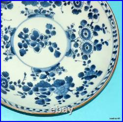 Chinese Export Porcelain 18thc Antique Blue White Charger Kangxi Plate
