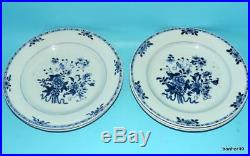 Chinese Export Porcelain 18thc Antique Blue White Kangxi Qianlong Plates