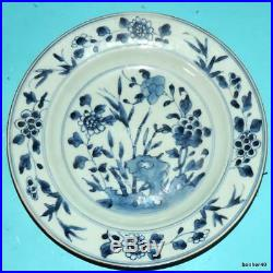 Chinese Export Porcelain Blue White Antique 18thc Kangxi Plate No Reserve