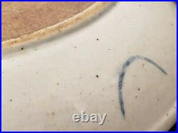 Chinese Mid Qing Dynasty Blue&White Underglaze Red Porcelain Plate(KIO 2)