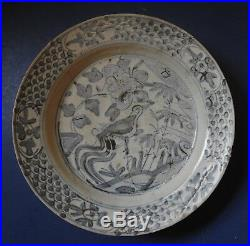 Chinese Ming Dynasty Swatow Blue & White Porcelain Dish 16th / 17th Century
