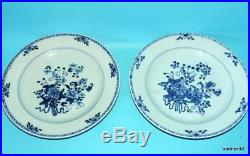 Chinese Porcelain 18thc Antique Blue White Kangxi Qianlong Plates