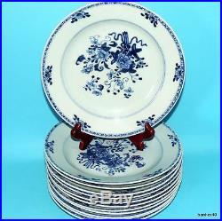 Chinese Porcelain 6 Wonderful 18thc Antique Blue White Kangxi Qianlong Plates