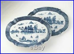 Chinese Porcelain Blue & White Landscape Scene Pair Of Plates 18