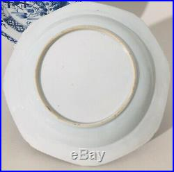 Chinese Porcelain Blue & White Plates Qianlong 18th Century Set Of Two
