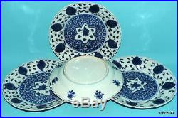Chinese Porcelain Wonderful Antique 18thc Blue White Under Glazed Kangxi Plates