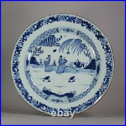 Chinese blue & white plate, Qianlong (1735-96)