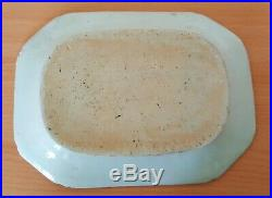 Chinese export blue & white vintage pre Victorian oriental antique small plate