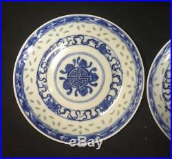 Chinesische porzellan Teller Chinese plates China porcelain asiatisch Blue white