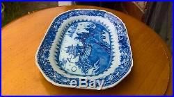 Circa 1750 Superb Qianlong Chinese Hand Painted Blue & White Porcelain Platter