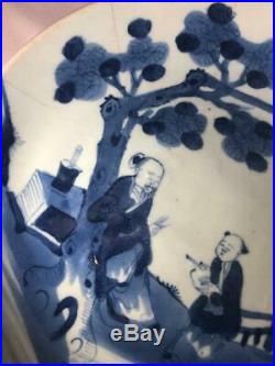 Dehua Blue and White 19th C Chinese Porcelain Plate
