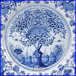 Delft Blue And White (De Porceleyne Bijl) 18th Century Plate Thea Tree