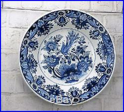 Delft Holland Delft Blue White Charger Plate Dutch Bird 14.29