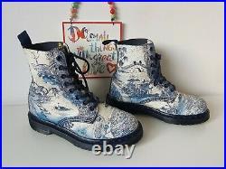 Dr Martens 1460 Willow china plate porcelain blue white 8 eye UK 4 EU 37 US 6