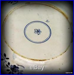 Dutch Makkum Holland Delft Frisian Folk Art Antique Blue White, Kangxi, Plates