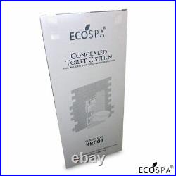 ECOSPA WC Concealed Wall Hung Toilet Cistern Frame + Dual White Eco Flush Plate