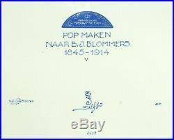 @ EXCELLENT @ Porceleyne Fles handpainted blue & white Delft wallplaque 1986