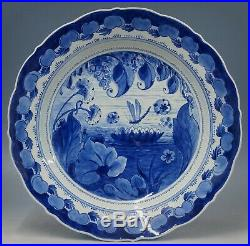 @ EXTREMELY RARE @ Porceleyne Fles handpainted blue & white Delft charger 1936