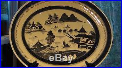 Early 18c Chinese Blue And White Painted Glazed Stoneware Platter, Dish 18l