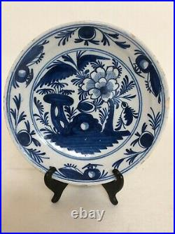 Early Delft Blue & White Plate