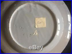 English Blue & White Early 1700s Delft Plate