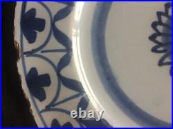 English Delft Blue & White Early circa 1720s Plate