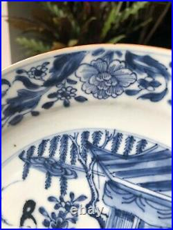 Excellent Antique Chinese Kangxi Period Blue & White Figural Pattern Plate 1