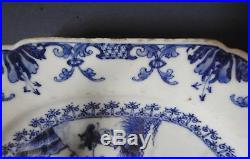 Excellent Large Chinese Blue & White Octagonal Dish Qianlong 18th Century