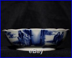 Exquisite Fine Old Chinese Blue And White Porcelain Plate Mark YongZheng FA283
