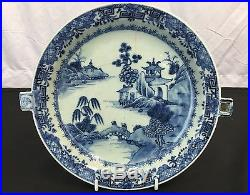 Fantastic Antique Chinese Blue And White Porcelain Plate With Beautiful Details