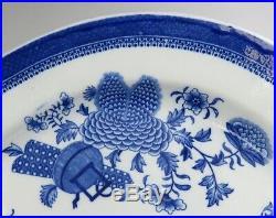 Fine Antique c1830's Underglaze Blue White Fitzhugh Platter 21 inches